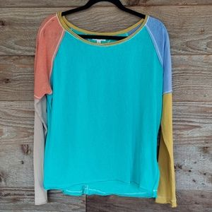 Umgee Emerald Color Block Top SIze Small